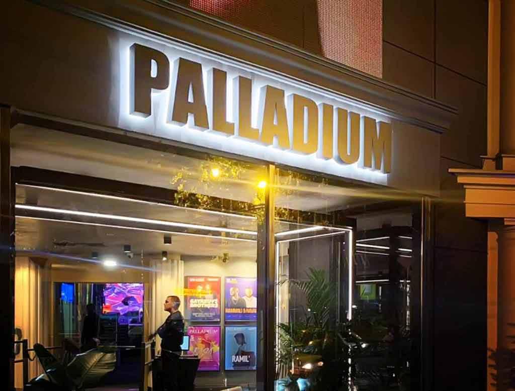 """Объемные буквы """"Palladium"""""""