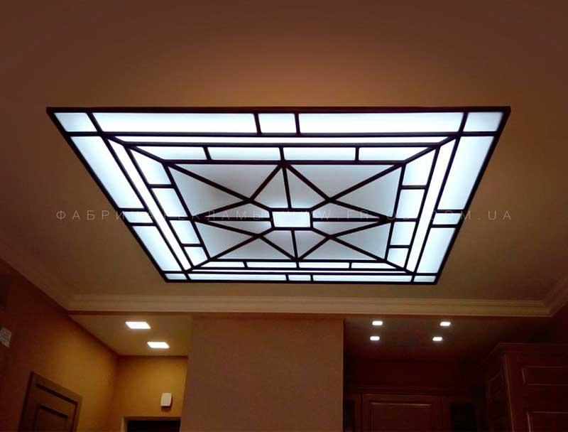 изготовление светового потолка, ЖК