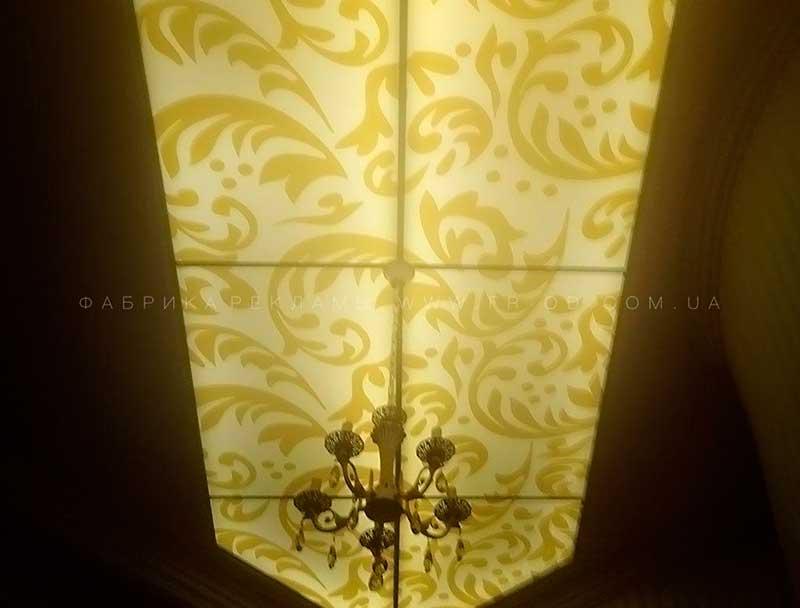 изготовление светового потолка